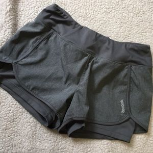 Gray Reebok running shorts